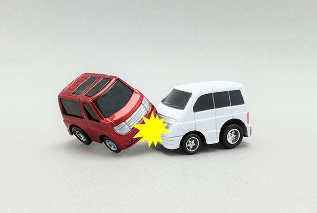 交通事故(ミニカー)の写真